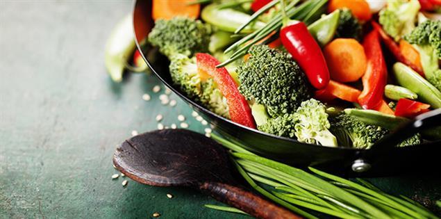 gesunde Ernährung - Gemüsepfanne